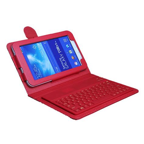 Samsung Tab 3 Ukuran 7 for samsung galaxy tab 3 lite keyboard silicon wireless bluetooth keyboard t110 t111 7 quot tablet