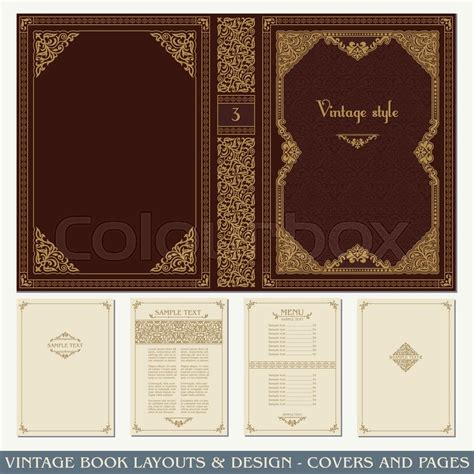 book page layout design vector vintage book layouts and design covers and pages