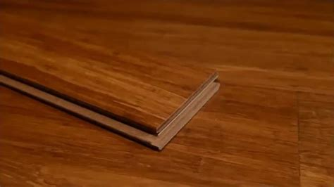 ambient strand woven bamboo flooring carbonized click lock snap together youtube