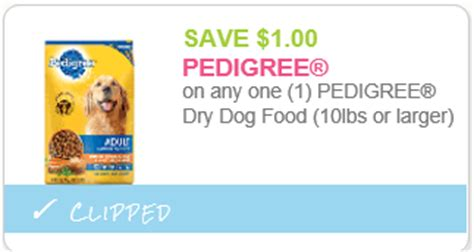 printable food coupons only pedigree dry dog food only 8 99 at walgreens starting 1