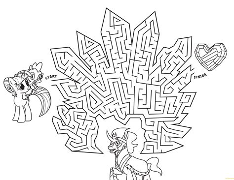 my little pony coloring pages crystal empire my little pony in crystal empire maze coloring page free