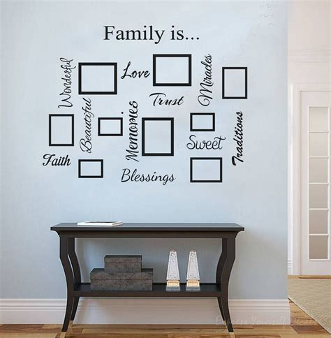 family photo gallery wall family quote picture frame gallery wall