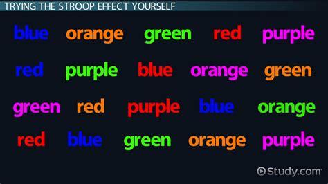 stroop color word test the stroop effect in psychology definition test