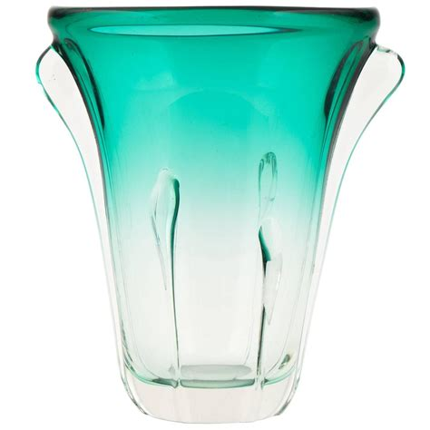 Teal Vases For Sale Murano Ombr 233 Teal Glass Vase For Sale At 1stdibs