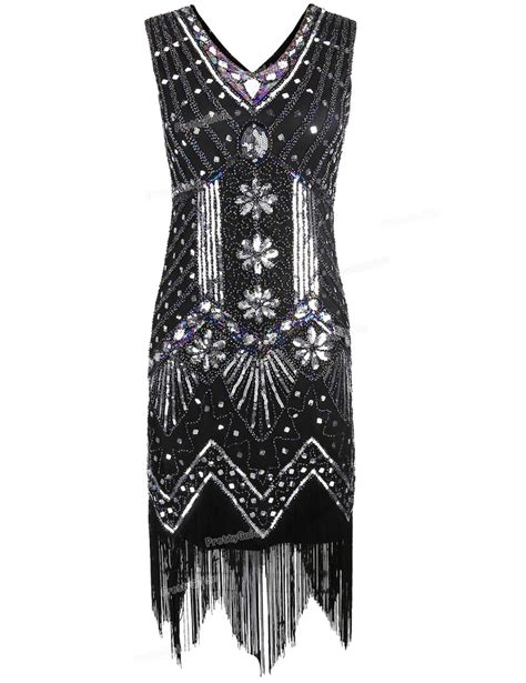beaded gatsby dress prettyguide 1920s v neck beaded sequin deco