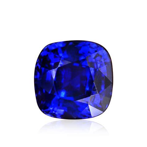 carat royal blue sri lankan sapphire cushion shape