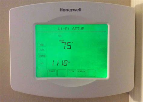 resetting wifi on honeywell thermostat how to reset honeywell thermostat rth8580wf to factory