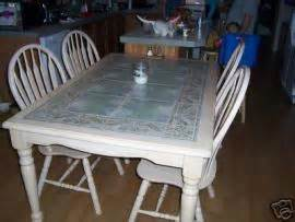 Kitchen Table With Tile Top Cost To Ship Large Tile Top Kitchen Table W 4 Chairs L K From Jamestown To