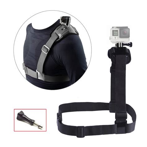 Shoulder Harness For Gopro Sjcam Sj4000 Sj5000 Xiaomi Yi ᗐaccessories chest shoulder mount ξ for gopro 5 5 4 sjcam sj4000