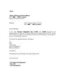 Authorization Letter Format Bir sample template efps letter of intent for individual taxpayer