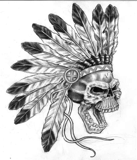 crazy skull tattoo designs designs with indians mediazink