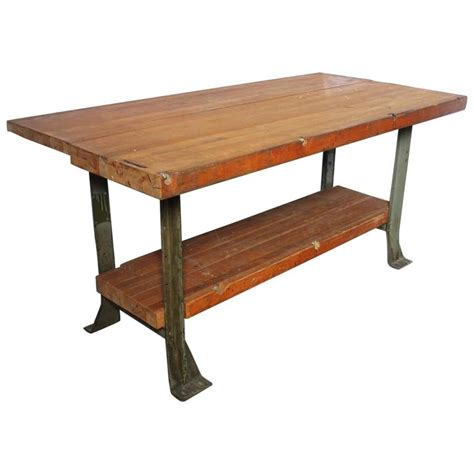 industrial work table vintage american industrial work table for sale at 1stdibs