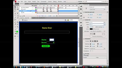 flash quiz tutorial actionscript 3 0 insert game high scores using php and mysql flash game
