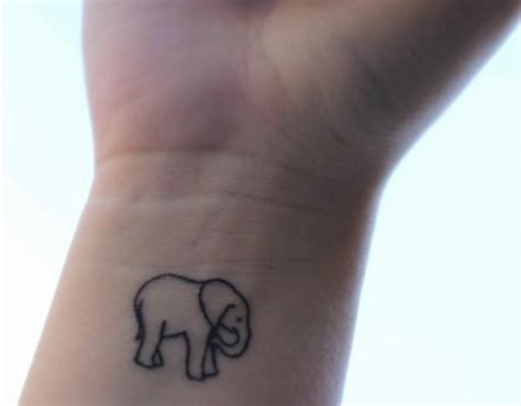 elephant outline tattoo wrist tattoo of elephant outline tat tat tat tat tat