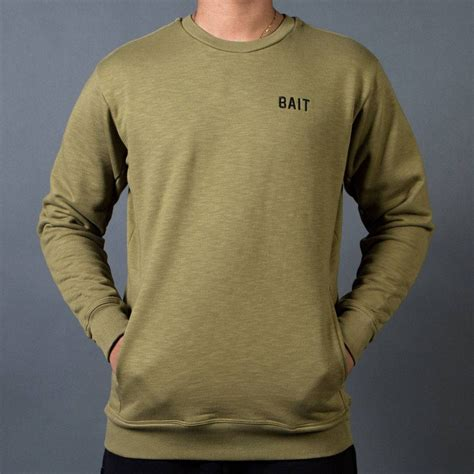 Cij Hodie Sweater bait terry crewneck sweater made in la olive