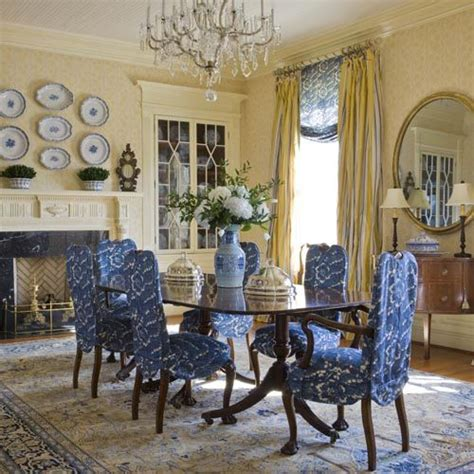 Yellow And White Dining Room by Blue White And Yellow Dining Room Beautiful Home