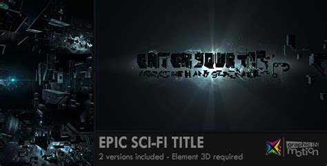 epic film titles epic sci fi title by graphicinmotion videohive