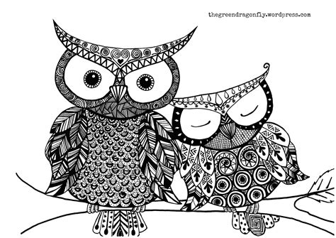 hard coloring pages of owls difficult owl coloring pages hard only coloring pages