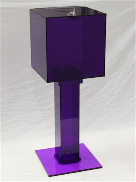 Purple Furniture Donations by Titheboxes High Quality Acrylic And Wood Tithe Boxes