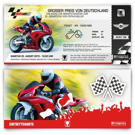 Kinder Motorrad Rennen by Einladungskarten Zum Geburtstag Als Motorrad Rennen Ticket