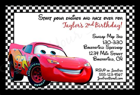Cars Invitation Cards Templates by Cars Birthday Invitations Printable Best Ideas