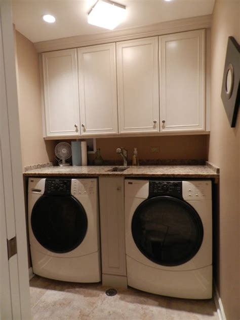 What To Do With The Space Above Kitchen Cabinets by Small Laundry Sink Houzz