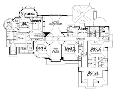 Estate House Plans by Manderston Estate 6147 5 Bedrooms And 5 5 Baths The