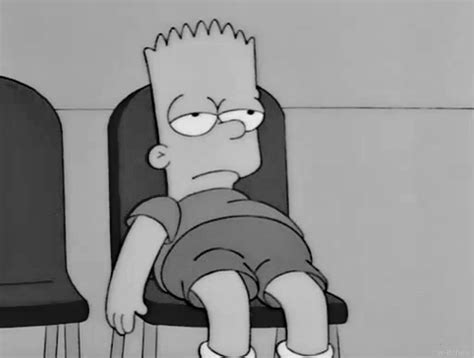 sad bart and tired image lo que me mueve pinterest frases wow bored bart simpson my s ensitivus