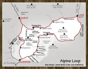 alpine loop colorado map alpine loop scenic tour switzerland of america ouray