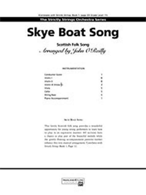 skye boat song viola sheet music skye boat song 3rd violin viola tc alfred