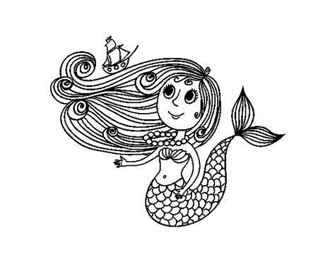 desenho sereia desenho de sereia um barco para colorir colorir