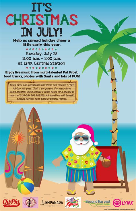christmas in july christmas in july at lynx central station public