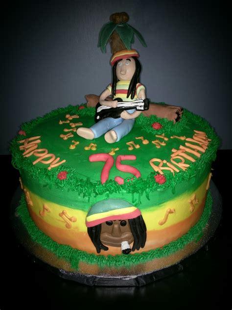 reggae themed party cake cakecentralcom