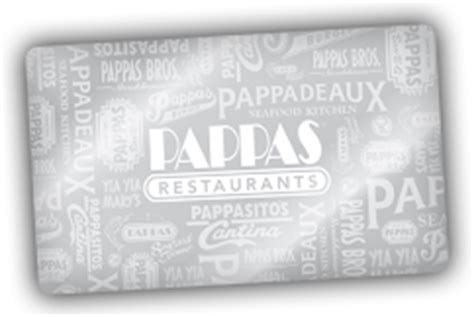 Pappas Restaurants Gift Card Balance - pappasito s cantina gift cards