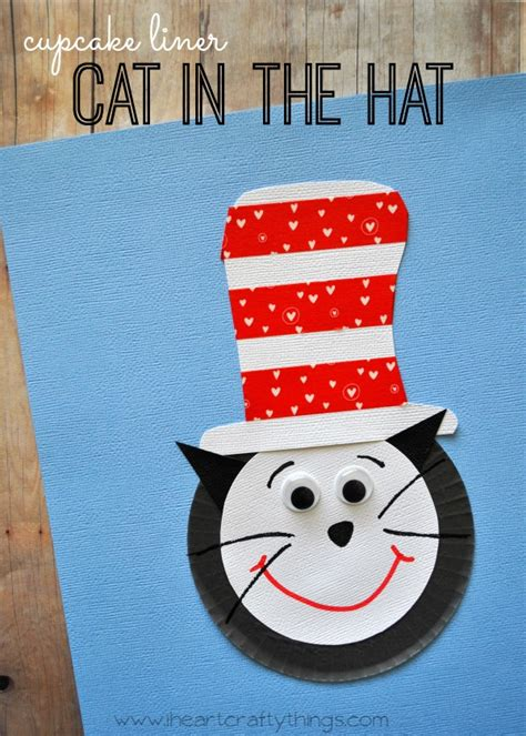 Cat In The Hat Paper Plate Craft - i crafty things cupcake liner cat in the hat craft