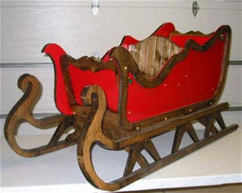 wood large christmas sleigh  plans