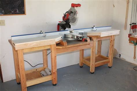 how to make a table saw bench pdf plans build miter saw table download diy build your