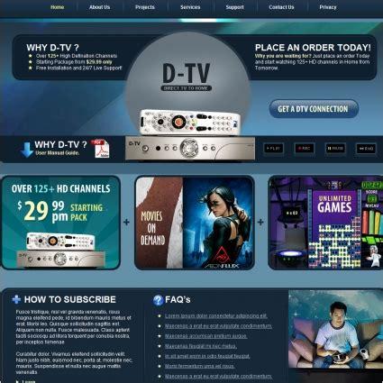 D Tv 템플릿 블루 무료 웹사이트 템플릿 무료 다운로드 Web Tv Template