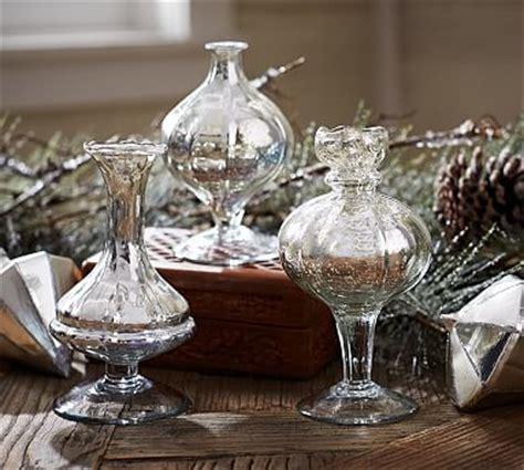 mercury glass bud vases set   pottery barn