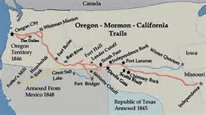 map of the oregon trail with landmarks pioneer profiles historic jacksonville inc