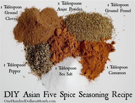 diy asian  spice seasoning recipe