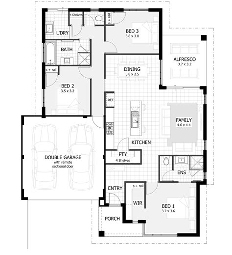 3 bedroom home plans 3 bedroom house plans home designs celebration homes