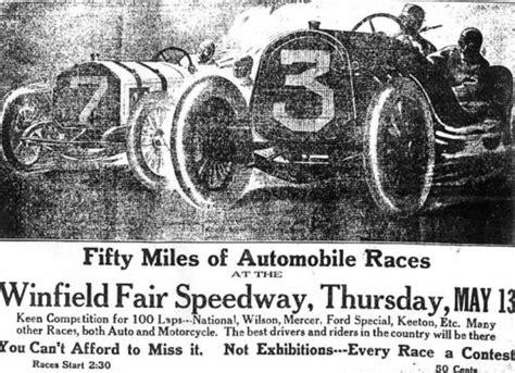 winfield motors winfield kansas 1915 auto races at winfield kansas