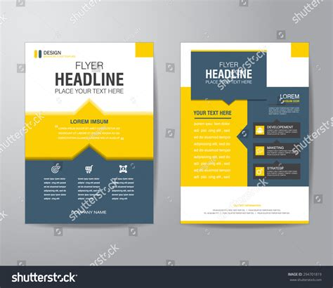 business brochure design templates free business brochure flyer design layout template stock