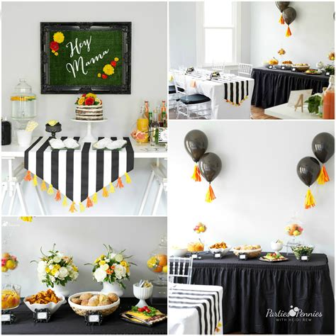 mamas mocktails baby shower for pennies - And Black Baby Shower Decorations