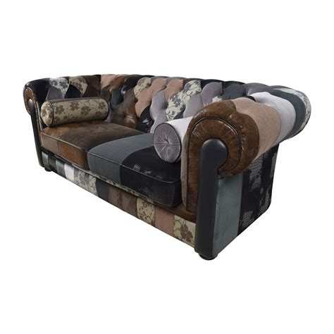 Chesterfield Patchwork Sofa - 68 and egan tufted