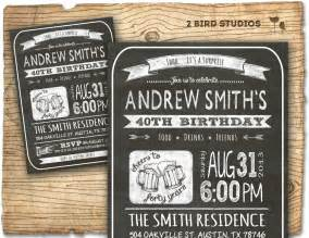 30th birthday invitation birthday by 2birdstudios