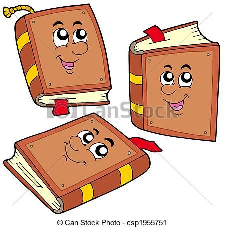 clipart libri posiciones libros vario caricatura illustration