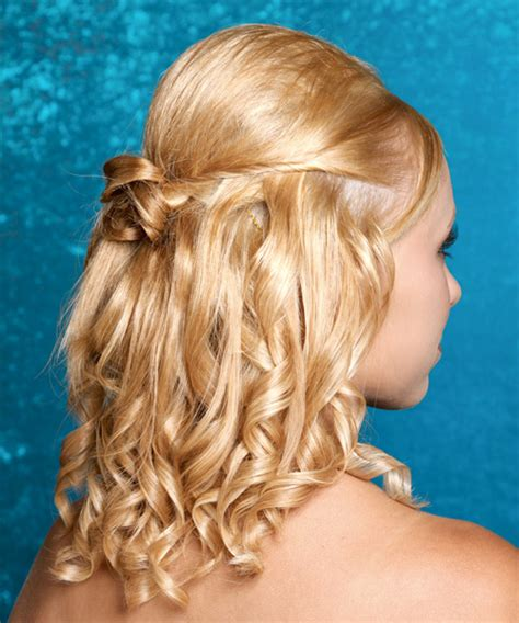 Prom hairstyles medium hair half up hair