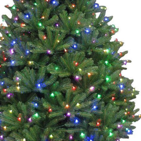 led smart tech lighting tree 7 5 ft pre lit led california cedar artificial